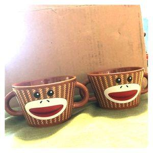 Other - Sock monkey ice cream bowls.